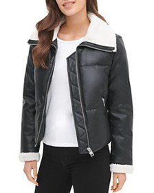 Levi's - Faux Leather & Faux Shearling Quilted Jac