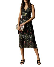 Ted Baker - Malinae Highland Tiered Pleated Midi D