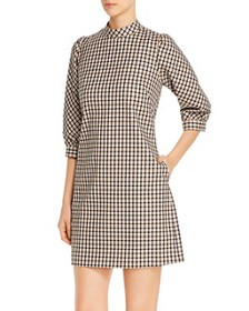 Elie Tahari - Emilia Check Mock-Neck Dress