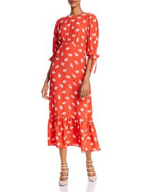 Ghost London - Printed Crepe Midi Dress