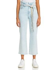 7 For All Mankind - Alexa Cropped Paperbag-Waist J