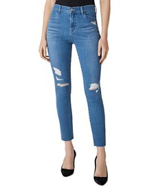 J Brand - Alana High-Rise Ripped Cropped Skinny Je