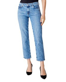 J Brand - Adele Mid-Rise Straight Ankle Jeans in C