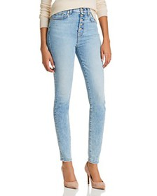 7 For All Mankind - High-Rise Ankle Skinny Jeans i