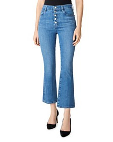 J Brand - Lillie High-Rise Crop Flare Jeans in Hea