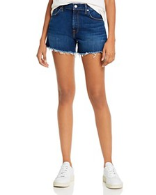7 For All Mankind - High-Waist Denim Shorts in Fle