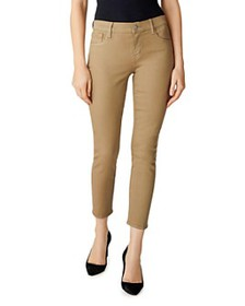 J Brand - Mid-Rise Cropped Skinny Jeans in Coated