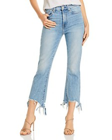 7 For All Mankind - High-Rise Slim Kick Jeans in V