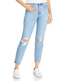 Levi's - Wedgie Icon Ripped Slim Ankle Jeans in Au