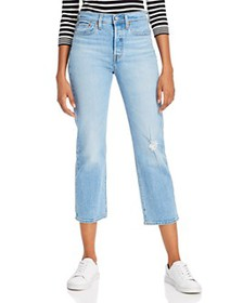 Levi's - Wedgie High-Rise Straight Crop Jeans in T