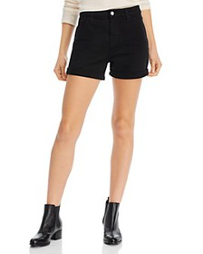 7 For All Mankind - Roll-Hem Shorts in Black
