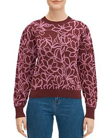 kate spade new york - Scribble Floral Sweater