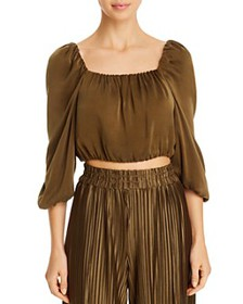 Alice and Olivia - Alta Square-Neck Cropped Top