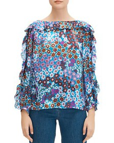 kate spade new york - Pacific Petals Floral Blouse
