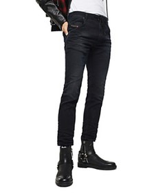 Diesel - Krooley-X Slim Fit Sweat Jeans in Black D
