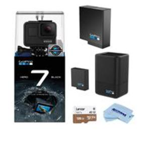 GoPro HERO7 Black w/Dual Charger, 2 Extra Battery,