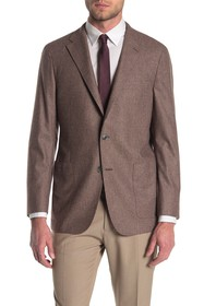 Hickey Freeman Weightless Tan Solid Two Button Not