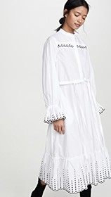 See by Chloe Shirt Dress with Embroidery