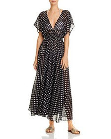 kate spade new york - Dotted Maxi Dress Swim Cover