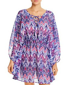 Tommy Bahama - Ikat Mirage Lace-Front Tunic Swim C