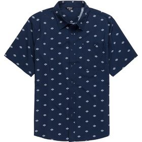 Stoic Printed Performance Woven Button-Down Shirt