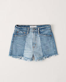 High Rise Mom Shorts, MEDIUM WASH W/ REPAIR