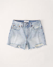 Curve Love Mid Rise Boyfriend Shorts, LIGHT RIPPED