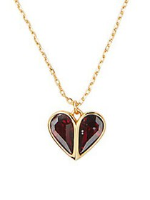 Kate Spade New York Goldplated & Crystal Heart Nec