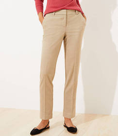 Tall Brushed Flannel Slim Pencil Pants with Stretc