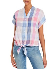 Tommy Bahama - Plaid Tie-Front Shirt