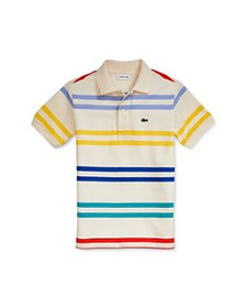 Lacoste - Boys' Striped Polo Shirt - Little Kid, B