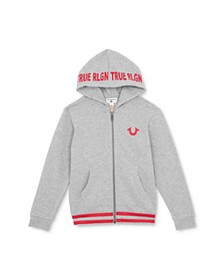 True Religion - Boys' Logo Hoodie - Little Kid, Bi