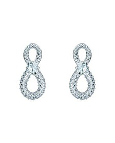 Swarovski - Infinity Pavé-Detail Earrings