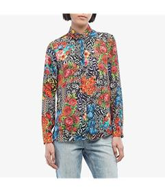 Versace Jeans Couture Optical Flower Print Button-
