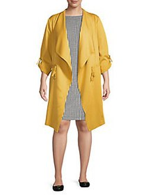 JONES NEW YORK Plus Open-Front Jacket GOLDEN