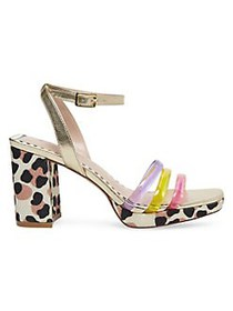 Betsey Johnson Strappy Heeled Sandals BRITE MULTI