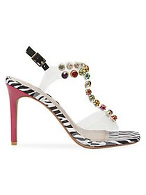 Betsey Johnson Camila Embellished Stiletto Sandals