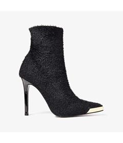 Versace Jeans Couture Textured Gold Toe Ankle Boot