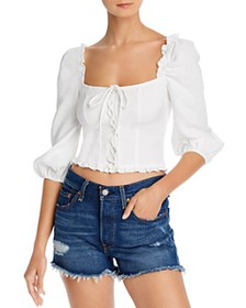 LANI THE LABEL - Lace-Up Cropped Top - 100% Exclus