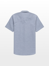 Stoic Solid Texture Short-Sleeve Button-Down Shirt
