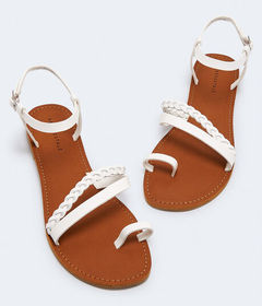 Aeropostale Faux Leather Multi-Strap Sandal