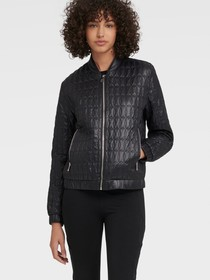 Donna Karan QUILTED BOMBER WITH BELT BAG