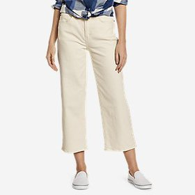 Women's High-Rise Wide-Leg Cropped Jeans