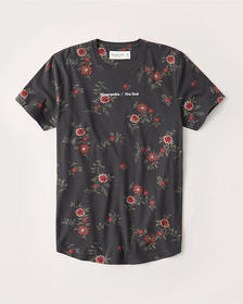 City Graphic Tee, BLACK FLORAL