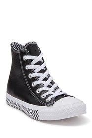 Converse Mission V High Top Faux Leather Zig Zag S