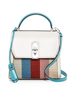 Salvatore Ferragamo - Medium Boxyz Striped Cord &