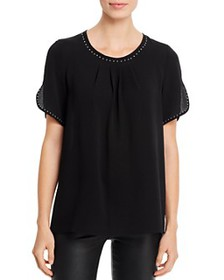T Tahari - Short-Sleeve Studded Top