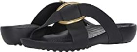 Crocs Crocs - Serena Cross Band Slide. Color Black