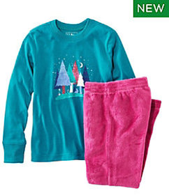 LL Bean Kids' L.L.Bean Cozy Fleece Pajamas