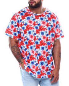 Buyers Picks american floral all over print t-shir
